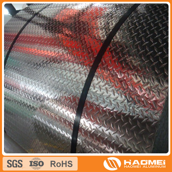 Al-Mg checkered alloy checkered plate