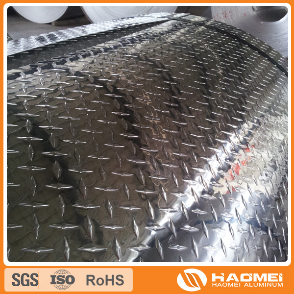 Mirror surface and mill finished Aluminium Tread Plate